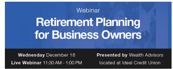 Retirement Planning Business Webinar