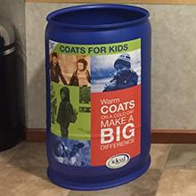 coats for kids bin