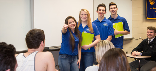 Ideal Credit Union student teachers at tartan high school